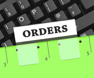 Orders File Represents Binder Directives And Direction 3d Rendering. Orders File Meaning Instruction Paperwork And Directions 3d Rendering Stock Photography