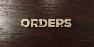 Orders - grungy wooden headline on Maple  - 3D rendered royalty free stock image. This image can be used for an online website banner ad or a print postcard Stock Photography