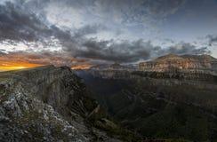 Ordesa-Sonnenuntergang lizenzfreie stockfotografie