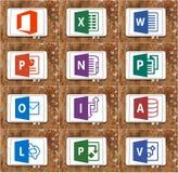 Ordet för det Microsoft kontoret, överträffar, powerpoint fotografering för bildbyråer