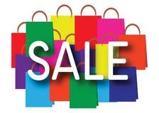 Ordet SALE på shoppingpåsar Royaltyfri Illustrationer