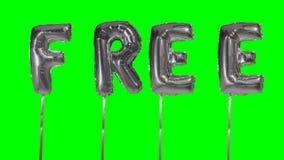 Ordet som är fritt från helium, försilvrar ballongbokstäver som svävar på den gröna skärmen - lager videofilmer