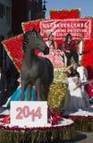 Ordförande K? ng Ch? ½ng för ¿ ng-Chï av Taipei, Taiwan, 115. guld- Dragon Parade, kinesiskt nytt år, 2014, år av hästen, Los-äng Arkivfoto