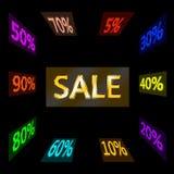 Ordförsäljning och förminskningsvariation arkivbilder