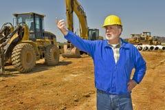 Ordförande On Construction Site Arkivfoto