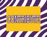 Ordhandstiltext bidrar Affärsidé för Give för att att hjälpa att uppnå eller ge något för att hjälpa royaltyfria foton