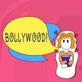 Ordhandstiltext Bollywood Affärsidé för bio för underhållning för Hollywood filmfilm vektor illustrationer