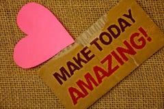 Ordhandstiltext gör i dag att förbluffa Motivational appell Affärsidé för specialt optimistiskt sönderrivet tjockt papper för pro arkivfoto