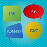 Ordhandstiltext Tid för att planera Affärsidé för start av ett projekt som gör beslut som organiserar schemamellanrumet vektor illustrationer