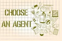 Ordhandstiltext väljer ett medel Affärsidé för Choose någon som väljer beslut på vägnar av dig royaltyfri illustrationer