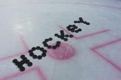 Ordhockey på is Royaltyfri Foto