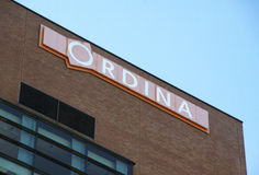 Ordina on a wall of a building Royalty Free Stock Images