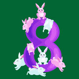 Ordinal liczby dla uczyć dzieci liczy z zdolnością kalkulować kwotę zwierzęcia abc abecadła dziecina Obrazy Royalty Free