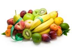 Ordinamenti differenti dell'alimento sano della frutta Fotografia Stock Libera da Diritti