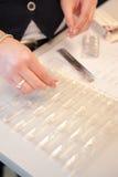Ordinamento delle pillole Fotografia Stock