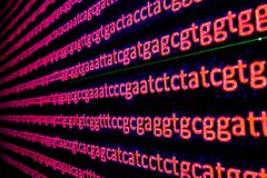 Ordinamento genomica royalty illustrazione gratis