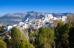 Ordinary andalusian town at hill. Quesada Royalty Free Stock Photo