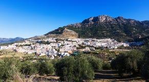 Ordinary andalusian town in winter day. Quesada Stock Photos