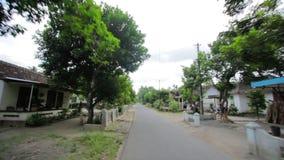 Ordinary asian rural area, jogjakarta, indonesia stock video footage