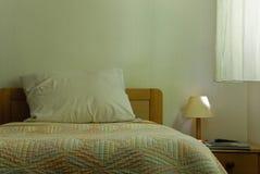 Ordinary bedroom. Bedroom in hotel in France Stock Photo