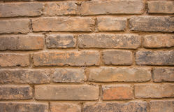 Ordinary brick wall. Along the road to separate private property and public Royalty Free Stock Photos