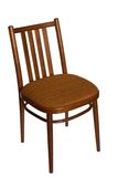 Ordinary chair, front view. stock image