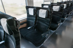 Ordinary class seats of limited express train HItachi. Stock Photography