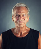 Ordinary Elderly Man Portrait Royalty Free Stock Photo