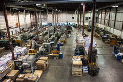 The ordinary factory in operation. During the day Royalty Free Stock Image