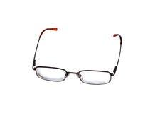 Ordinary glasses, thin black frame Stock Photos
