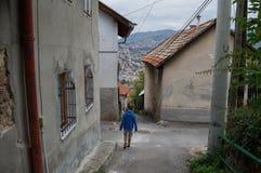 Ordinary Houses in a Sarajevo Neighborhood, Bosnia & Herzegovina. Ordinary Houses in a Sarajevo Neighborhood, Bosnia and Herzegovina Stock Photo