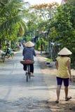 Ordinary life at vietnamese village around mekong delta, vietnam Stock Photography