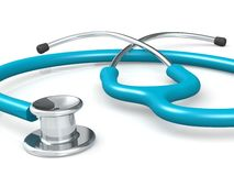 Ordinary medical stethoscope  Stock Photos