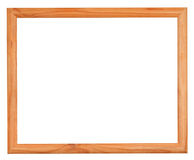 Ordinary narrow picture frame with cutout canvas Royalty Free Stock Photos