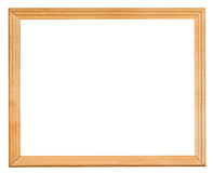 Ordinary narrow wooden frame with cut out canvas Stock Image