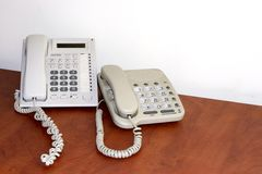 Ordinary office telephone Stock Photos
