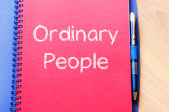 Ordinary people write on notebook Stock Photography