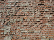 Ordinary red brickwork, old wall Royalty Free Stock Photos