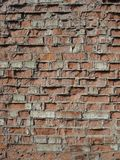 Ordinary red brickwork, old wall Stock Image
