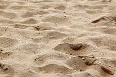 Ordinary sand on the beach Stock Photo