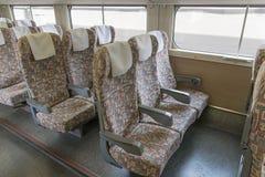 Ordinary seats of E4 Series bullet (High-speed or Shinkansen) tr Stock Photo