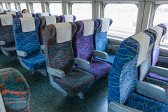 The Ordinary seats of E2 Series bullet train (High-speed or Shin Royalty Free Stock Image