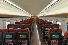 Ordinary seats of the E7/W7 Series bullet (High-speed) train. NAGANO,JAPAN-APRIL 8,2016: Ordinary seats of the E7 Series bullet (High-speed or Shinkansen) train Royalty Free Stock Photos