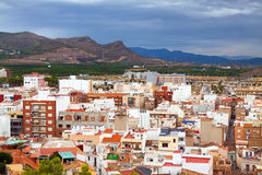 Ordinary spanish town in summer day. Sagunto Royalty Free Stock Photos