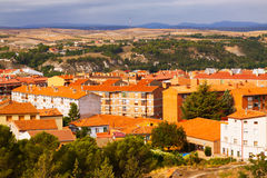 Ordinary spanish  town. Teruel, Aragon Royalty Free Stock Photo