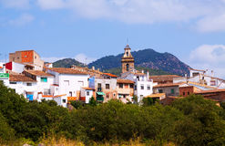 Ordinary spanish village in summer day. Matet Stock Photos
