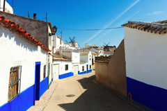 Ordinary street of Campo de Criptana Royalty Free Stock Photography