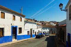 Ordinary street of Campo de Criptana.  Spain Stock Image