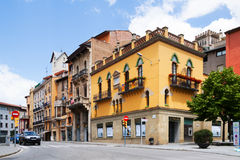 Ordinary street of catalan town. Vic Stock Photos
