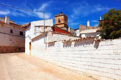 Ordinary street of El Toboso Royalty Free Stock Images